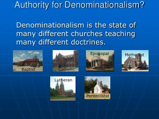 Authority for Denominationalism