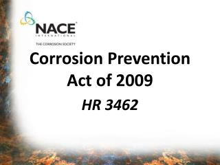 Corrosion Prevention Act of 2009