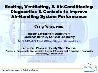 Energy Performance of Buildings Group