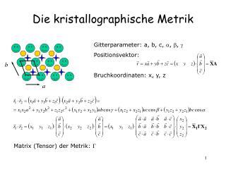 Die kristallographische Metrik