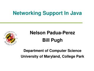 Networking Support In Java