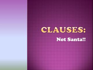 Clauses: