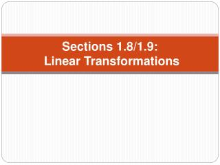 Sections 1.8