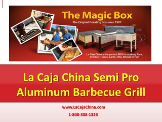 La Caja China Semi Pro Aluminum Barbecue Grills