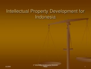 Intellectual Property Development for Indonesia