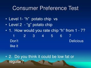 Consumer Preference Test