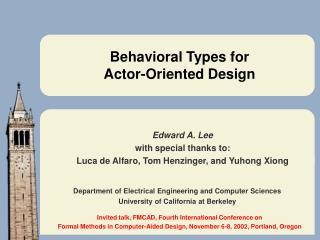 Behavioral Types for Actor-Oriented Design