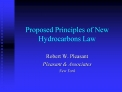 Proposed Principles of New Hydrocarbons Law