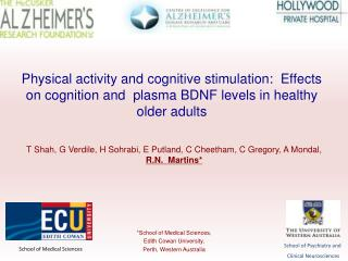 Physical activity and cognitive stimulation:  Effects on cognition and  plasma BDNF levels in healthy older adults