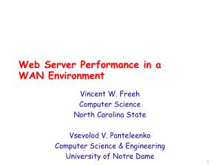 Web Server Performance in a WAN Environment