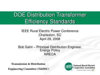 DOE Distribution Transformer Efficiency Standards