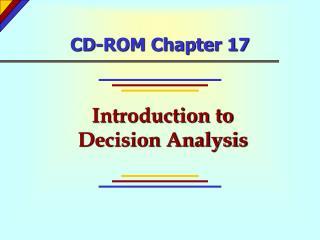 CD-ROM Chapter 17