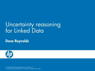 Uncertainty reasoning for Linked Data