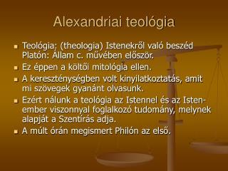 Alexandriai teol gia
