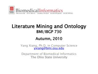 Literature Mining and Ontology BMI