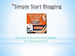 Simple Start Blogging