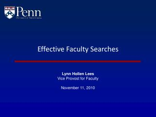 Effective Faculty Searches