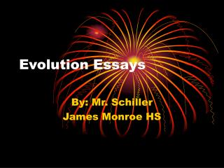 Evolution Essays
