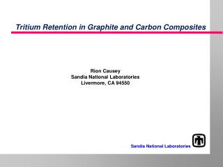Tritium Retention in Graphite and Carbon Composites