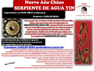 Nuevo A o Chino  SERPIENTE DE AGUA YIN