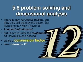 5.6 problem solving and dimensional analysis