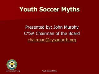Youth Soccer Myths