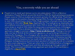 Visa to Usa