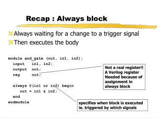 Recap : Always block