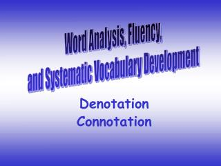 Denotation Connotation