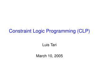 Constraint Logic Programming CLP