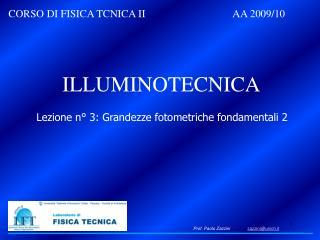 CORSO DI FISICA TCNICA II    AA 2009