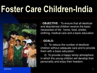 Foster Care Children-India