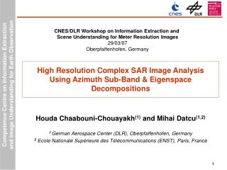 High Resolution Complex SAR Image Analysis  Using Azimuth Sub-Band  Eigenspace  Decompositions