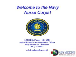 Welcome to the Navy  Nurse Corps