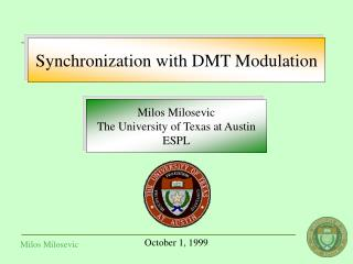 Synchronization with DMT Modulation