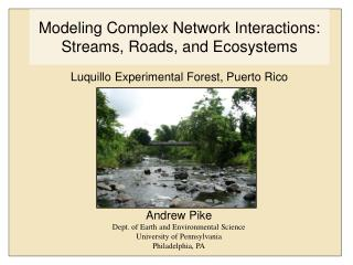 Modeling Complex Network Interactions: Streams, Roads, and Ecosystems
