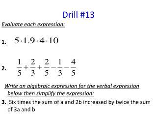Drill 13