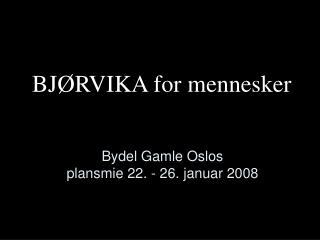 Bydel Gamle Oslos  plansmie 22. - 26. januar 2008