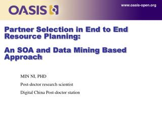 Partner Selection in End to End Resource Planning:   An SOA and Data Mining Based Approach