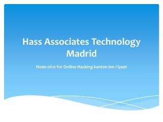 Edit Hass Associates Technology Madrid