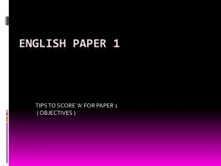 How to answer Paper 2