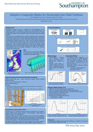Adaptive Composite Blades for Horizontal Axis Tidal Turbines R.F. Nicholls-Lee, S.R. Turnock and  S.W. Boyd Fluid Struct