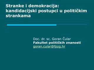 Stranke i demokracija