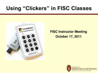 Using  Clickers  in FISC Classes