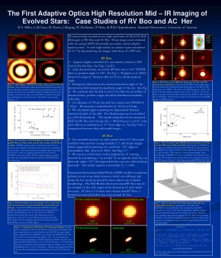 The First Adaptive Optics High Resolution Mid   IR Imaging of Evolved Stars:   Case Studies of RV Boo and AC  Her