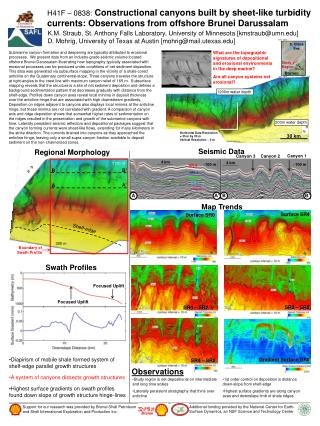 H41F   0838: Constructional canyons built by sheet-like turbidity currents: Observations from offshore Brunei Darussalam