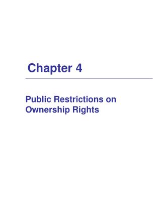 Public Restrictions on Ownership Rights