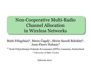 Non-Cooperative Multi-Radio Channel Allocation  in Wireless Networks