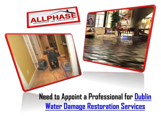Dublin water Damage Restoration Services