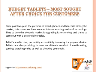 Budget Tablets – Most sought after choice for customers